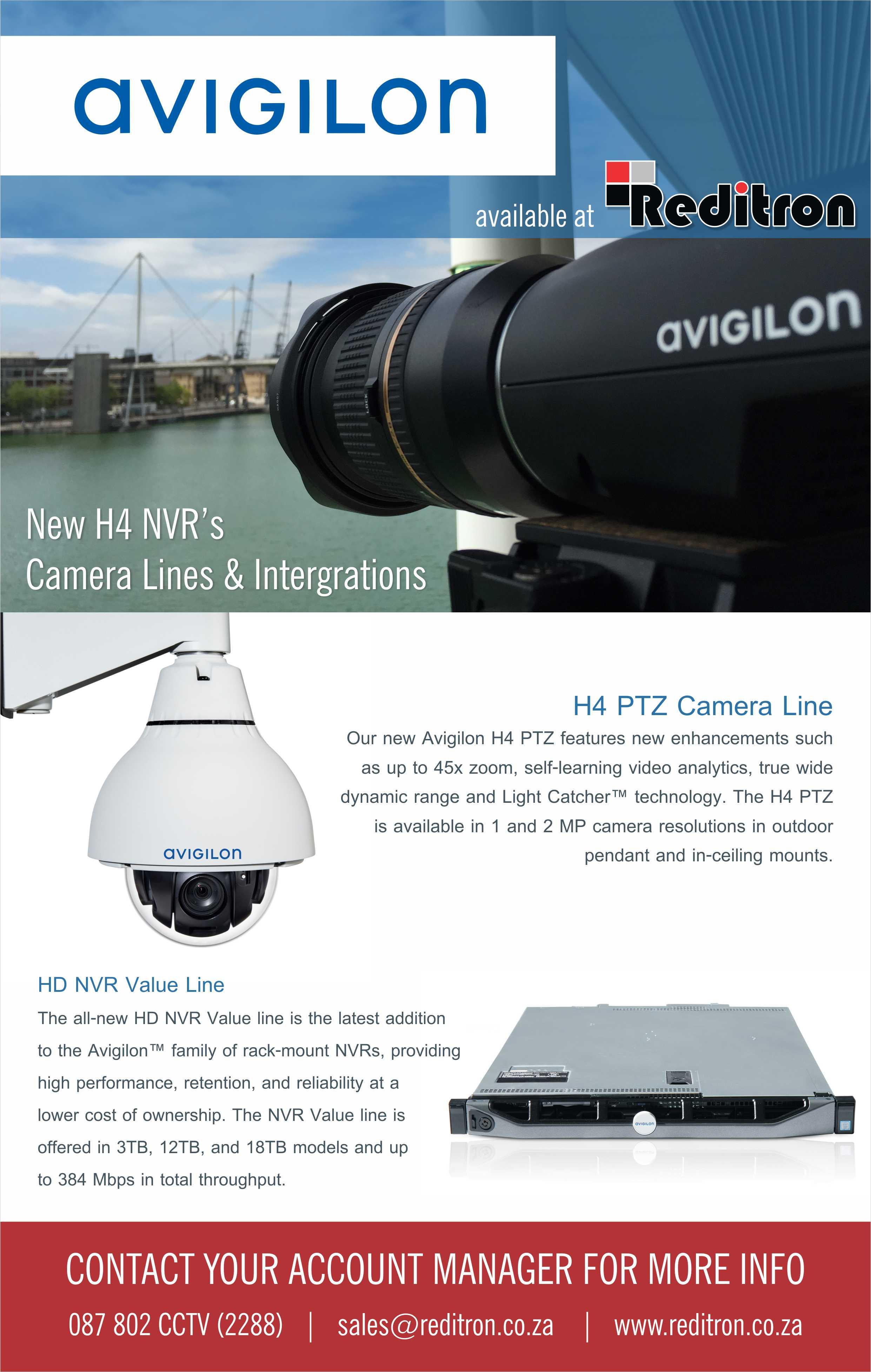 2016 Oct Avigilon H4 Reditron Emailer