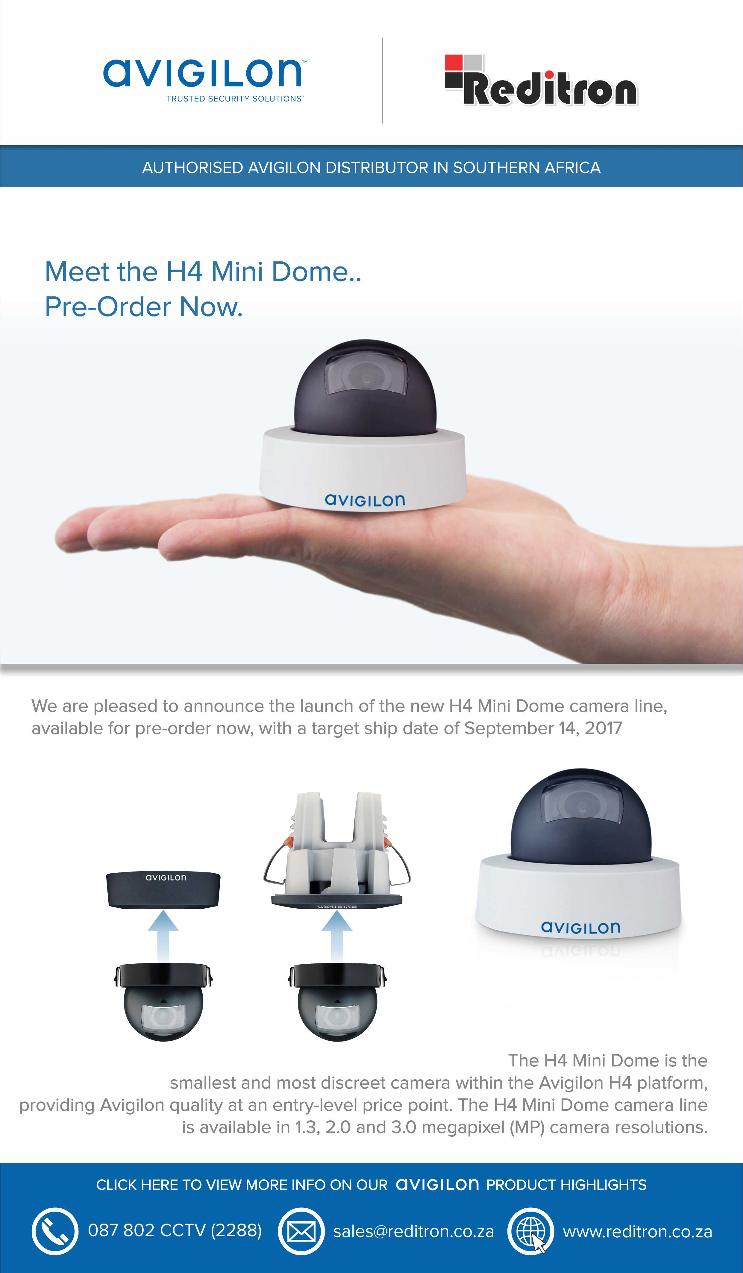 2017 Aug Avigilon New H4 Dome Emailer