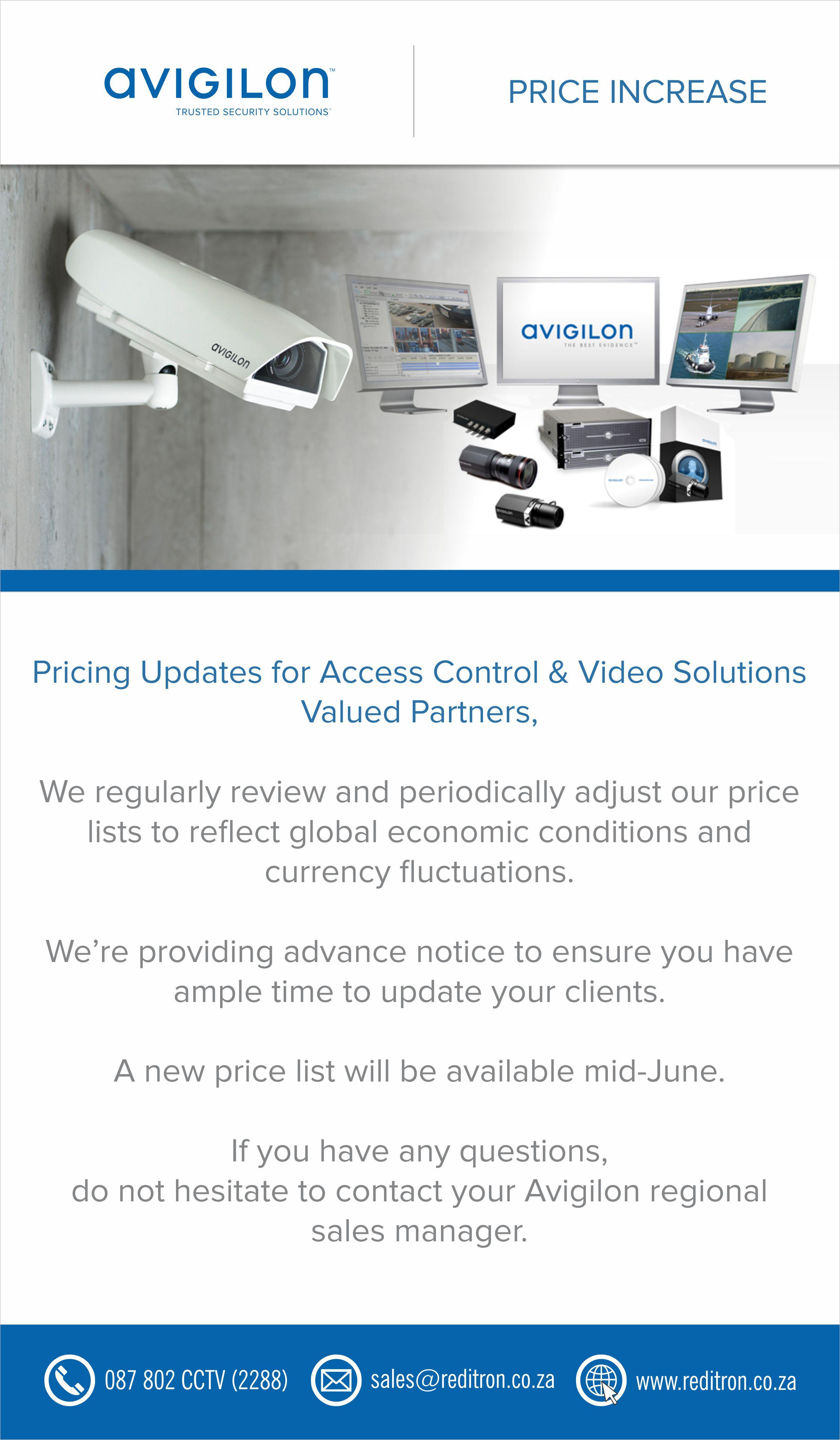 2017 June Avigilon Price Increace Notice
