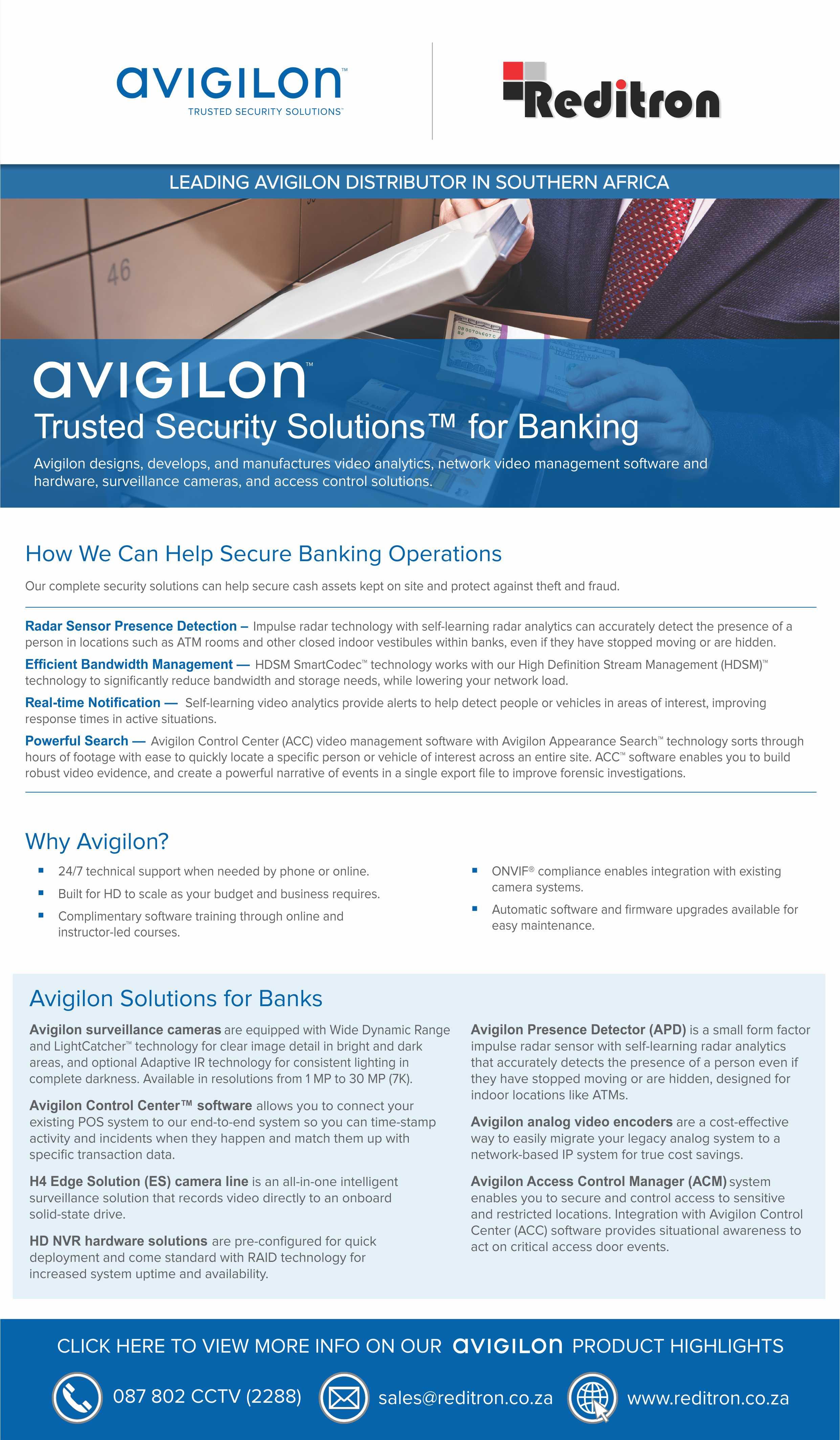 2017 Nov Avigilon Banking Emailer