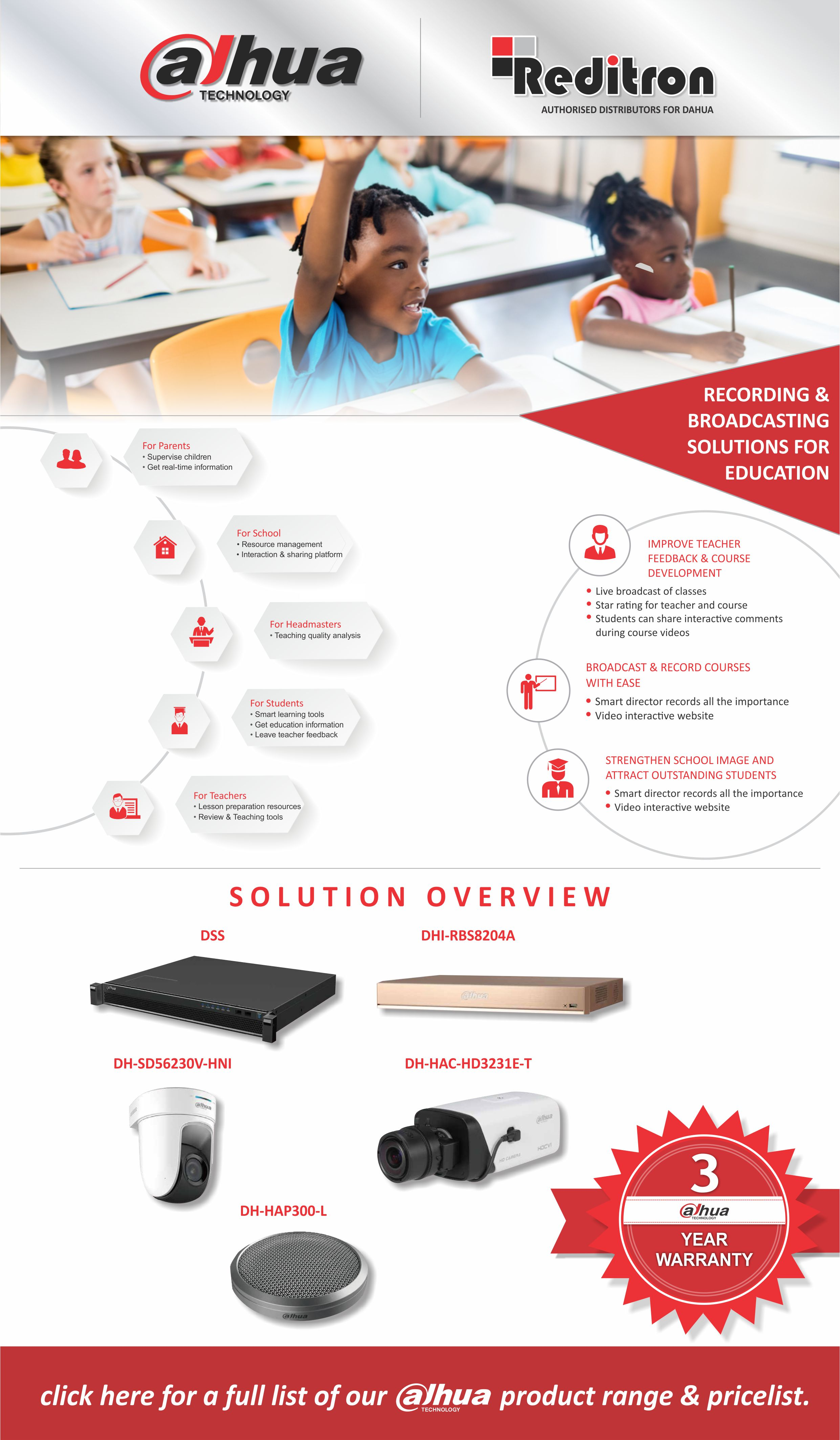 2017 July Dahua Education Solutions Reditron Emailer2