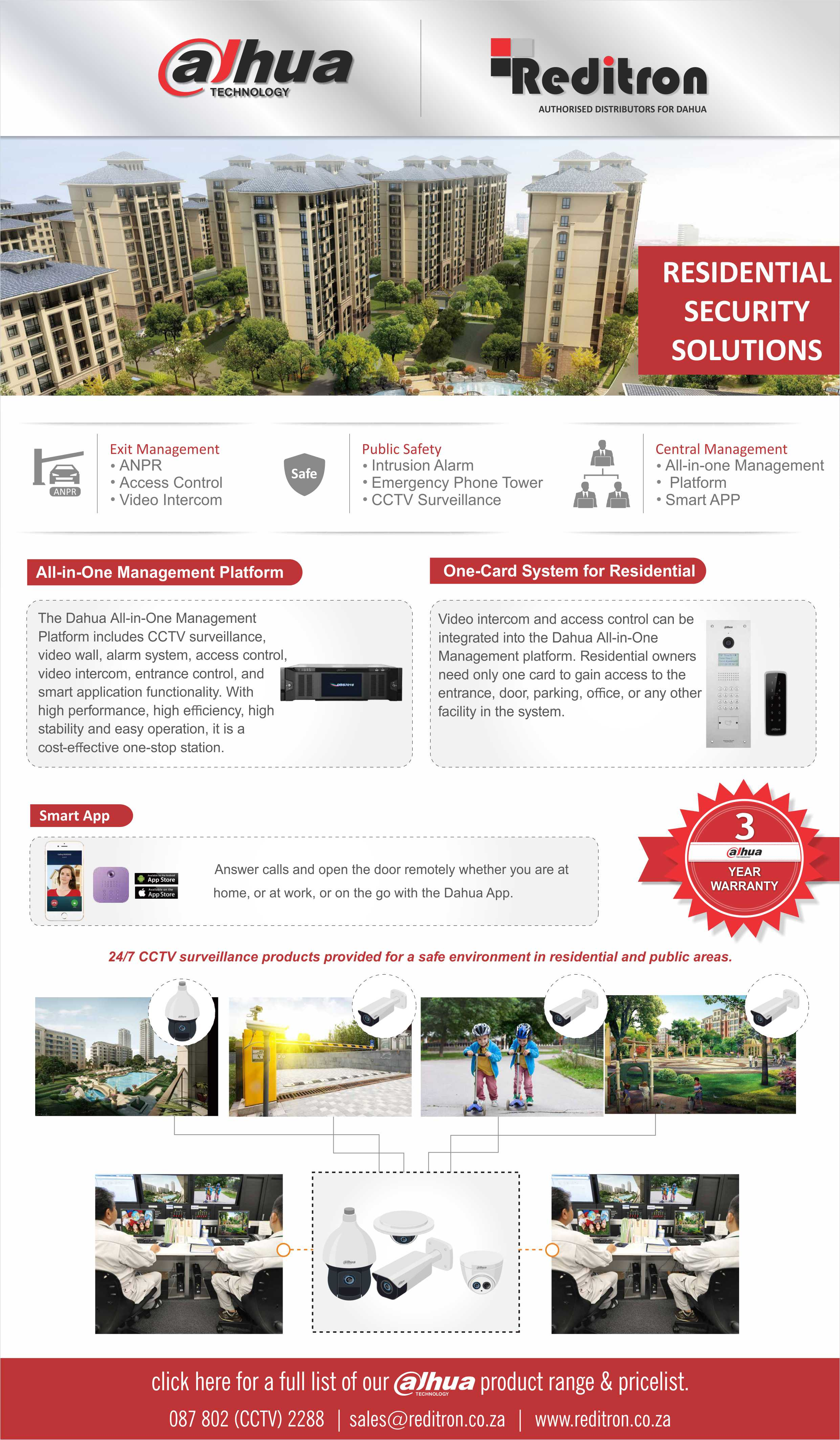 2017 Oct Dahua Residential Solutions Reditron Emailer
